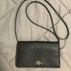 Coach Crossbody Wallet (Black)